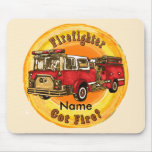 Got Fire Firefighter Name Mouse Pad