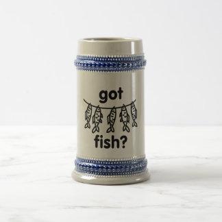 got fish fish beer stein