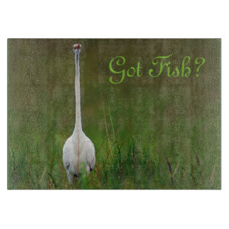 Got Fish?  Great Egret cutting board