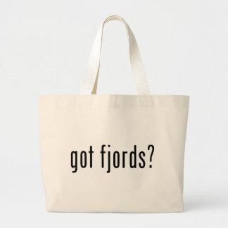 got fjords? large tote bag