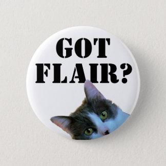 Got Flair ? With Peeking Cat Button
