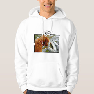 GOT FLOSS? DOG IN SHARK'S MOUTH - HUMOR HOODIE