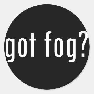 got fog? classic round sticker