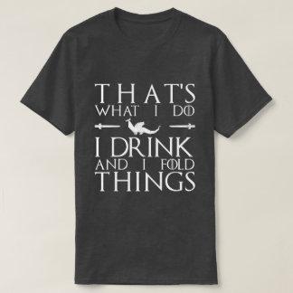 GoT Folds (white text) T-Shirt