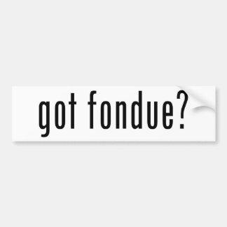 got fondue? bumper stickers