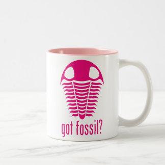 GOT FOSSIL? Pink Trilobite Two-Tone Coffee Mug