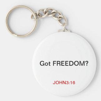 GOT FREEDOM? BASIC ROUND BUTTON KEYCHAIN
