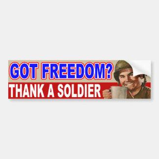 Got Freedom? Car Bumper Sticker