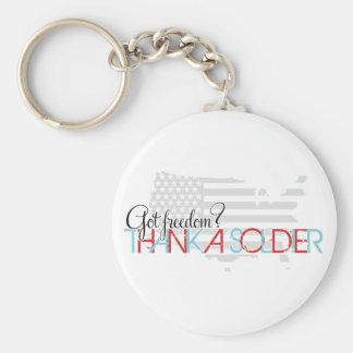 Got Freedom? Thank A Soldier Keychain