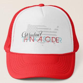 Got Freedom? Thank A Soldier Trucker Hat