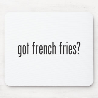 got french fries mousepads