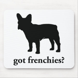 got frenchies? mouse pad