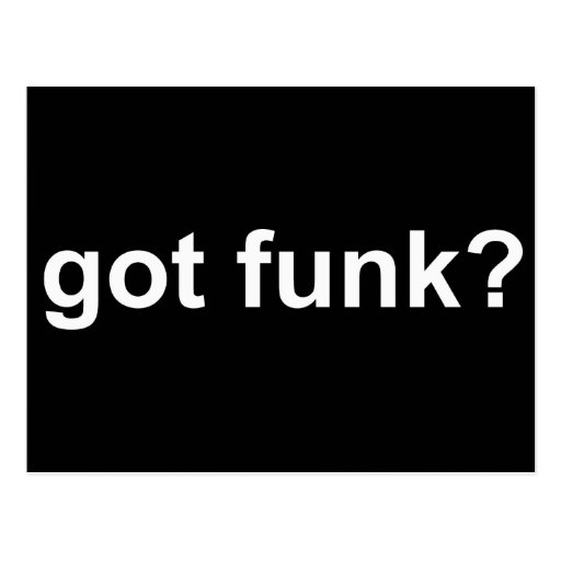 Got Funk Black Postcards