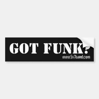 Got Funk?, www.5x7band.com Car Bumper Sticker