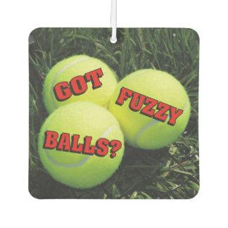 Got Fuzzy Balls? Tennis Air Freshener