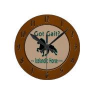 Got Gait? My Icelandic Horse Does Round Wallclock
