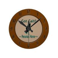Got Gait? My Peruvian Horse Does Round Wallclocks