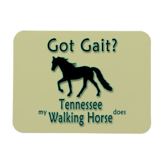 Got Gait My Tennessee Walking Horse Does Rectangle Magnet