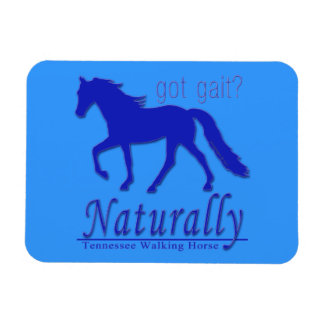 got gait Naturally Tennessee Walking Horse Vinyl Magnets
