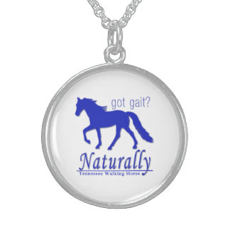 got gait? Naturally Tennessee Walking Horse Sterling Silver Necklace