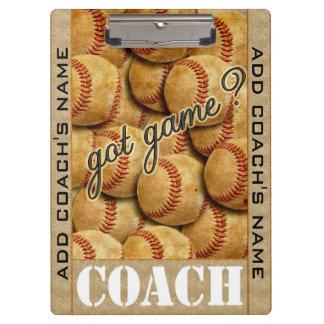 Got Game? Baseball Clipboard