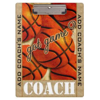 Got Game? Basketball Clipboards