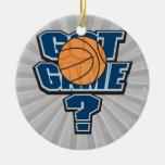 got game basketball design ornaments