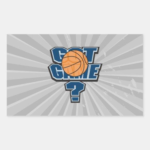 got game basketball design rectangle stickers