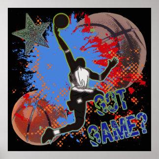 GOT GAME - BASKETBALL POSTER