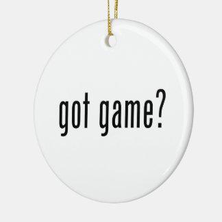got game? ceramic ornament