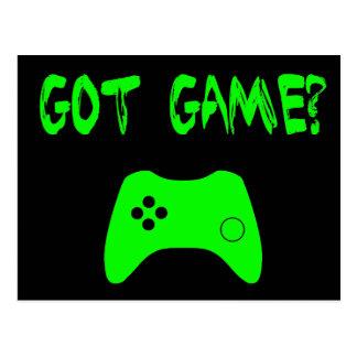 Got Game?  Funny Gamer Postcard
