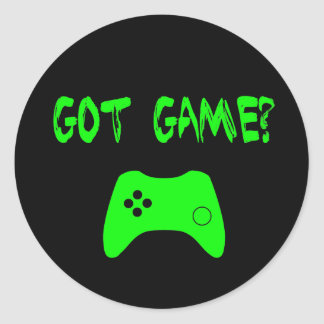 Got Game?  Funny Gamer Stickers