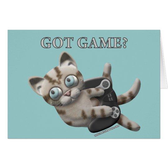Got Game Kitten Card