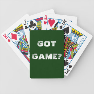 Got Game? Playing Cards