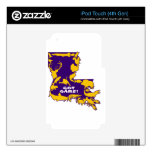 GOT GAME PURPLE AND GOLD.png iPod Touch 4G Decal