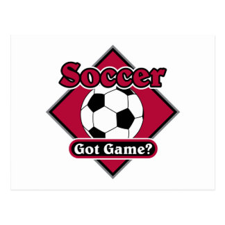 Got Game? Soccer Postcard