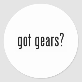 got gears? classic round sticker