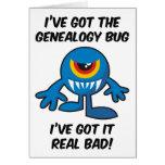 Got Genealogy Bug Bad Greeting Cards