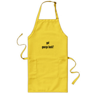 got george bush? long apron