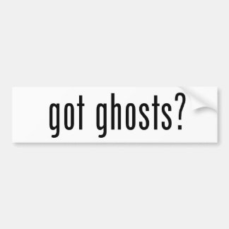 Got Ghosts? Bumper Sticker Car Bumper Sticker