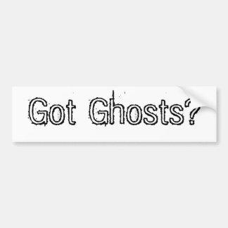 Got Ghosts? Car Bumper Sticker