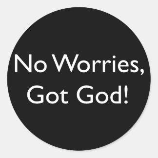 Got God Classic Round Sticker