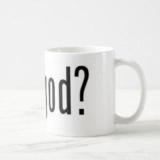 got god? classic white coffee mug