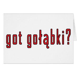 got golabki? greeting card