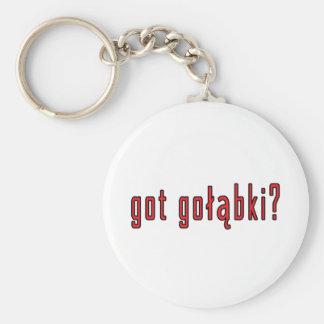 got golabki? basic round button keychain