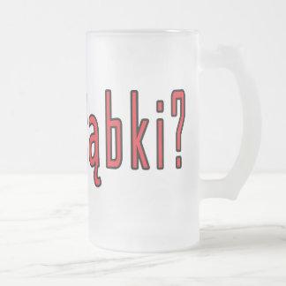 got golabki? 16 oz frosted glass beer mug