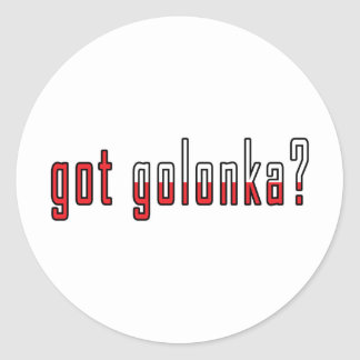 got golonka? Flag Classic Round Sticker