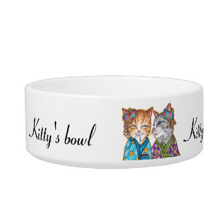 Got gossip? cat bowls