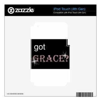 Got Grace black .gif iPod Touch 4G Decal