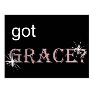 Got Grace black .gif Postcard